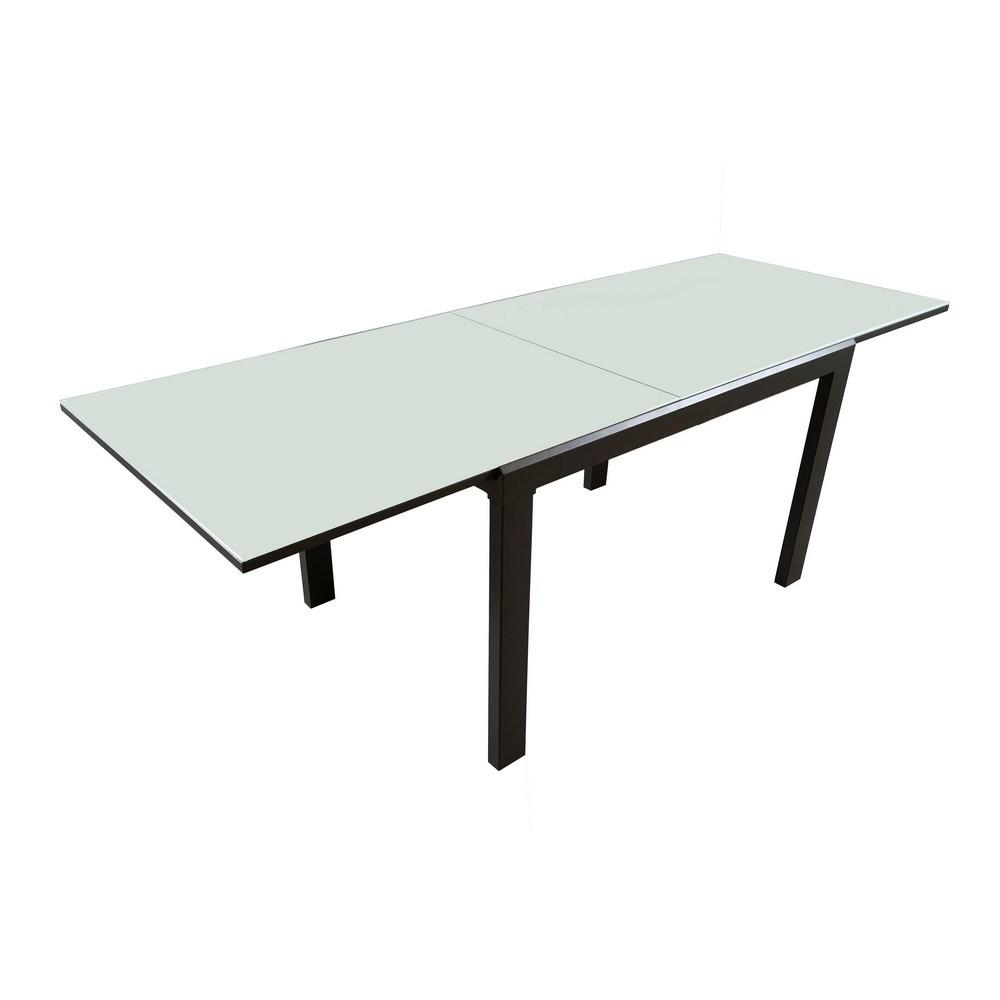 Tavolini Grancasa: Tavolo allungabile con piano in vetro ...