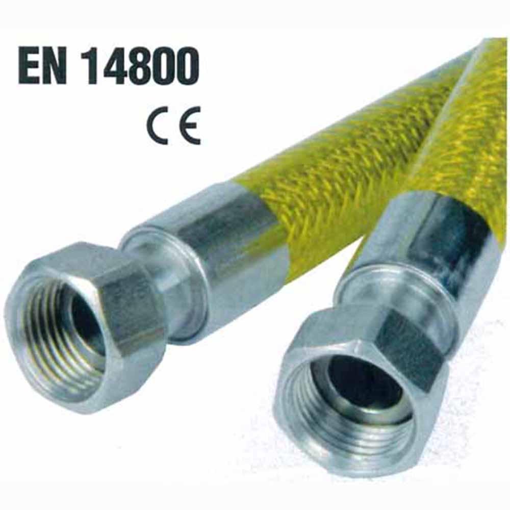 Idrobric tubo gas flessibile 1 2 f f norma en14800 bricoio - Tubo gas cucina lunghezza massima ...