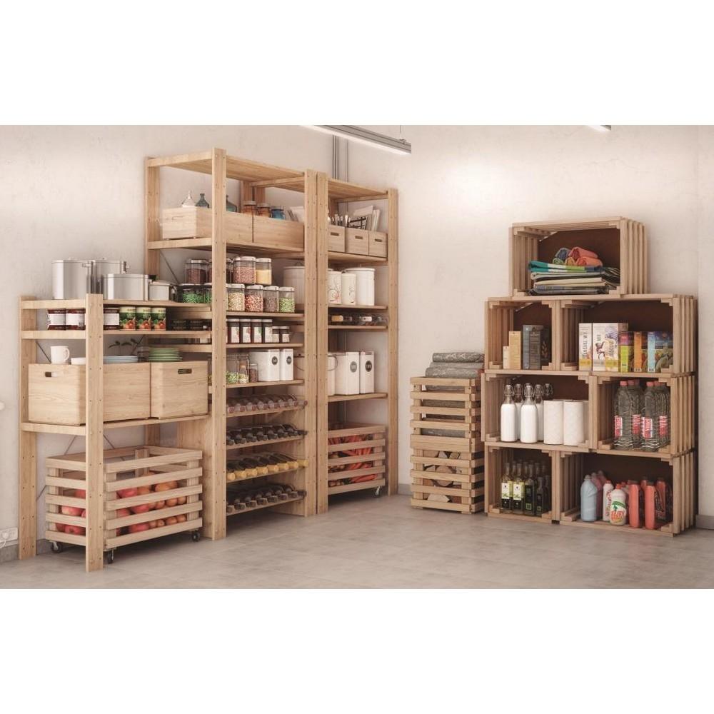 Scaffali In Legno Kit.Astigarraga Scaffale In Kit Pino Grezzo Shop Online Su Brico Io